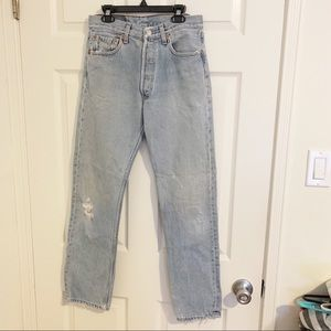 Vintage Levi's 501 High-Waisted Jeans W29